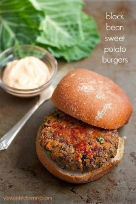black bean sweet potato burgers